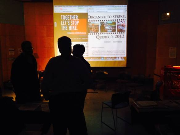 Quebec Film Screening & Teach-In
