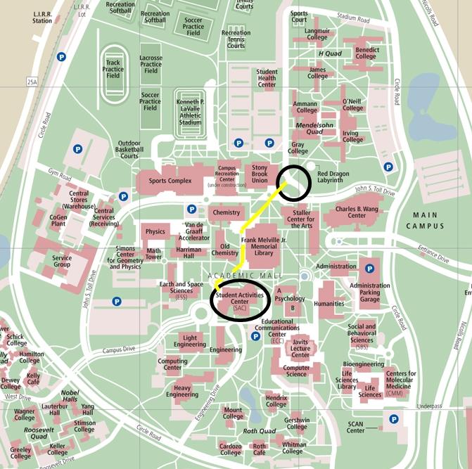Stony Brook University Map